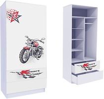 Mebelkon Гонщик шкаф с двумя ящиками 211x100x50