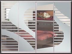 Фото Zevs Мебель Шкаф-купе четырехдверный Стандарт Пескоструй+Пескоструй+Пескоструй+Пескоструй 3200x600x2400