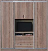 Zevs Мебель Шкаф-купе TV ДСП+TV+ДСП 2100x600x2400