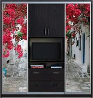 Фото Zevs Мебель Шкаф-купе TV Фотопечать+TV+Фотопечать 2700x600x2400