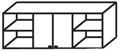 Скай Домино Антресоль подвесная 1,94x0,70x0,35м