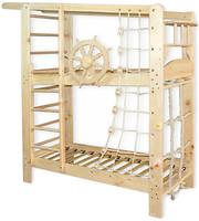 Фото Babygrai Капитан двухъярусная кровать из сосны