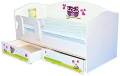 Mebelkon Кроватка домик Совушки 80x160