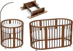 Ovalbed Овальная кроватка 7в1 + маятник