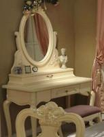 Фото Китай Eca100 801 туалетный столик+зеркало+пуф