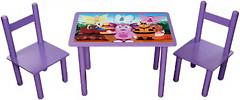 Финекс Плюс Стол деревянный с МДФ столешницей 400x600 и 2 стула