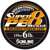 Фото Sunline Super PE 8 Braid (0.128mm 150m 3kg) 16580806