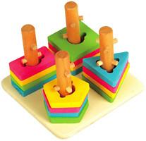 Фото Мир деревянных игрушек Логический квадрат малый (Д105)
