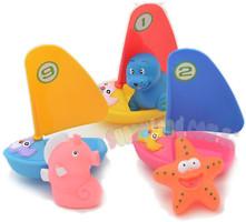 Фото Baby Team Набор игрушек для ванны Веселый серфер (9007)
