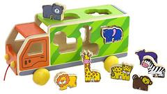 Фото Viga Toys Машинка с животными на веревочке (50344)