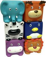 Baby Team Зверята кубики 6 шт (9050)