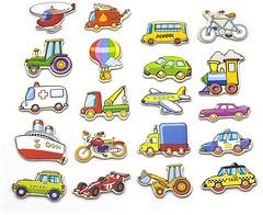 Viga Toys Набор магнитных фигурок Транспорт (58924)