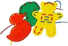 Фото Miniland Шнуровка Животные 9 фигур (95281)