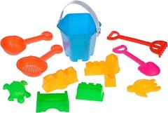 Same Toy Набор песочный голубой 11 эл (B007-1Ut-1)