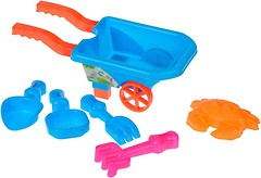 Same Toy Набор песочный голубой 6 эл (B015-Eut-2)