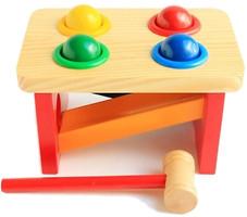 Фото Мир деревянных игрушек Стучалка-горка Шарики (Д142)