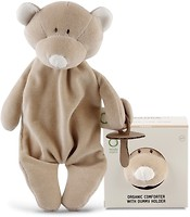 Wooly Organic Комфортер с держателем для пустышки Медвежонок (106)