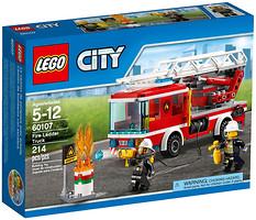 Фото LEGO City Пожарная машина с лестницей (60107)