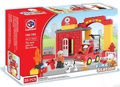 Kids Home Toys Fire Station (188-104)