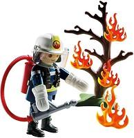 Фото Playmobil Пожарный с огнетушителем (9093)