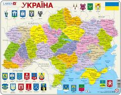 Larsen Карта Украины - политическая (K57)