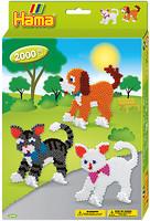 Hama mosaic Термомозаика Собачки и котики (3433)