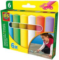 Фото Ses Набор цветных мелков для асфальта Веселая палитра 6 шт. (02206S)