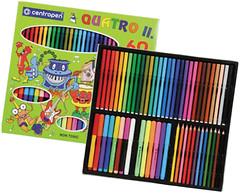 Centropen Набор цветных карандашей и фломастеров Quatro II (9396)