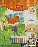Фото D&M Набор для декорирования картины блестками Лиса (61994)