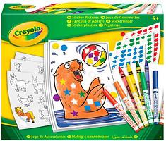 Crayola Набор для творчества с наклейками и фломастерами (04-6801)