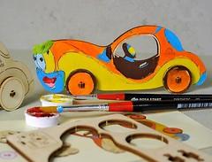 Ugears 3D модель-разрисовка Автомобиль (10003)