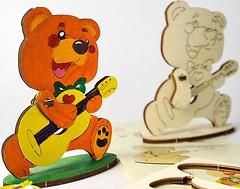 Ugears 3D модель-разрисовка Медвежонок (10002)
