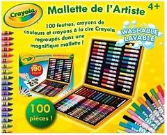Crayola Набор для творчества в чемоданчике с фломастерами и карандашами (10651)