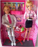 Defa Lucy Кукла официантка с парнем (8229)