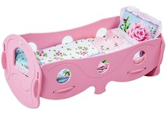 ЧудиСам Кроватка для кукол розовая с бельём (K040VP)