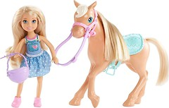 Фото Mattel Barbie Челси и пони (DYL42)