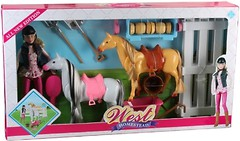 Bambi (Metr+) Кукла с лошадями и аксессуарами серия West (MZT8984)