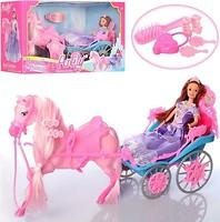 Bambi (Metr+) Карета с лошадью и куклой (99124)