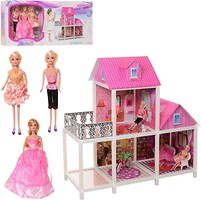 Фото Bambi (Metr+) Двухэтажный домик с куклами (66883)
