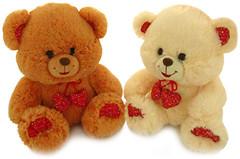 Lava Медведь малый с декоративными сердечками (867A)