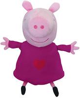 Peppa Pig Пеппа с вышитым сердцем 30 см (25096)