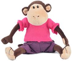Фото Maxi Toys Обезьянка Толик в свитере 20 см (MT-TS0215022)