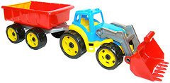 ТехноК Трактор с ковшом и прицепом (3688)