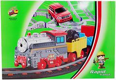 LiXin Железная дорога с поездом и машиной (9911)