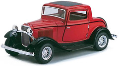 Kinsmart (1:36) 1932 Ford 3-Window Coupe (KT5332W)