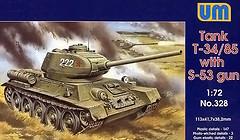 Фото UniModels T-34-85 with S-53 gun (UM328)