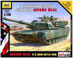 Zvezda Американский танк Абрамс A1M1 (ZVE7405)