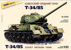 Zvezda Советский танк Т-34/85 (ZVE3533)