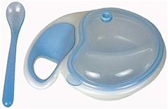 Nuby Двухсекционная тарелка с крышкой и ложкой (5312)