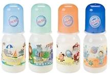 Baby-Nova Бутылочка пластиковая с декором 125 мл (46000)